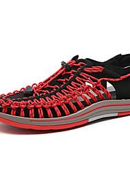 Herren Sandalen Leuchtende Sohlen Leder Sommer Normal Upstream Schuhe Leuchtende Sohlen Elastisch Flacher Absatz Schwarz Grau Rot Blau