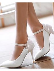 Femme Chaussures à Talons Confort Cuir Nubuck Polyuréthane Eté Décontracté Blanc Rouge Rose 10 à 12 cm