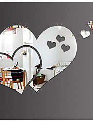 Romance Espejos Formas Pegatinas de pared Calcomanías de Cristal para Pared Adhesivos de Pared Espejo Calcomanías Decorativas de Pared