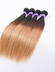 Ombre Hair Weaves Indian Texture Straight 6 Months 4 Pieces hair weaves