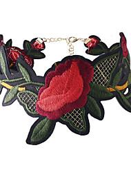 Femme Collier court /Ras-du-cou Forme de Fleur Alliage Original A Fleurs Bijoux Pour Soirée / Fête Quotidien Vêtements de Plein Air