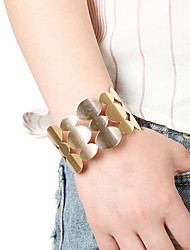 Femme Bracelets Rigides Manchettes Bracelets Mode Style Punk Pierre Alliage de métal Alliage Forme Géométrique Bijoux PourScène