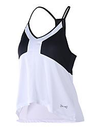 Women's Running T-Shirt Fitness, Running & Yoga Breathable for Yoga Running/Jogging Exercise & Fitness Loose Black/White