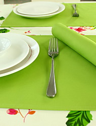 Modern Simple Heat Insulation Green Cotton And Linen Table Placemat 32*45cm Double-sided