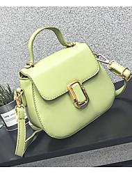 Women Shoulder Bag PU All Seasons Casual Outdoor Round Clasp Lock Blushing Pink Green