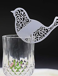 50pcs Birds Shape Laser Cut Wedding Decoration Wine Glass Card Table Mark Name Place Card Wedding Party Supplies.
