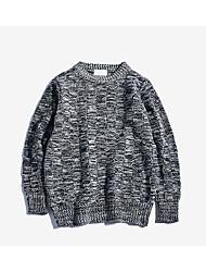 Standard Pullover Da uomo-Quotidiano Casual Semplice Fiocco di neve Rotonda Manica lunga Cotone Maglia Primavera Autunno Medio spessore