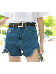 Women's High Waist Inelastic Shorts Pants,Simple Wide Leg Solid