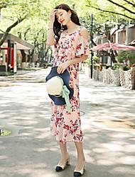 Для женщин Простой На каждый день Комбинезоны Свободные Мода Лето
