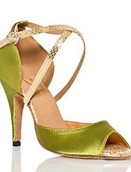 Damen Tanz-Turnschuh PU Sandalen Sneakers Im Freien Blockabsatz Grün 5 - 6,8 cm