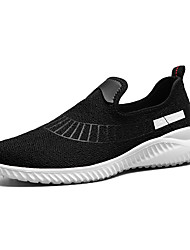 Men's Athletic Shoes Comfort Knit Customized Materials Spring Fall Athletic Casual Outdoor Walking Comfort Split Joint Flat HeelRuby Gray