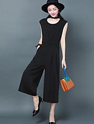 Feminino Simples Casual Macacão,Largo Fashion Negócio Verão