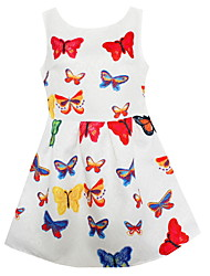 Girls  Colorful Butterfly Dresses Party Pageant Kids Clothing Summer and Autumn Children Clothes