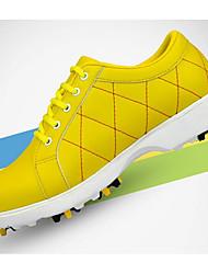 Chaussures de Golf Femme Golf Résistant aux Chocs Confortable Antidérapant Des sports Style artistique Style moderne Stylé Daim Caoutchouc