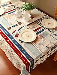 Japanese And Korean Cartoon Style Cotton And Linen Table Cloth 120*120cm