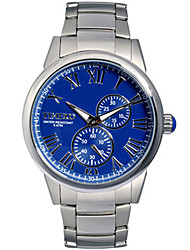 Men's Fashion Watch Quartz Stainless Steel Band Silver Gold
