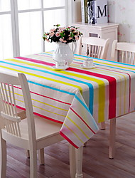 Home Daily Extinguishing Anti-oil And Water Cotton And Linen Table Cloth 130*180cm Color Stripes