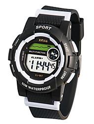 Муж. Модные часы Цифровой Защита от влаги Фосфоресцирующий Pезина Группа Черный