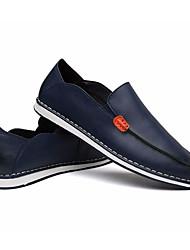 Da uomo Mocassini e Slip-Ons Comoda Pelle Estate Casual Comoda Nero Arancione Blu marino Piatto