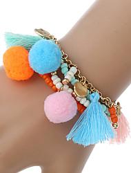Femme Chaînes & Bracelets Charmes pour Bracelets Bracelets de rive Bohême Fait à la main Arc-en-ciel Alliage de métal MétalForme de