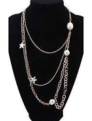 Chains Multilayer  Necklace Multi Layer Pendant Layered Necklace for Women Gold Color Party Casual Statement Gift  Jewelry