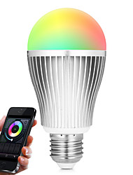 E27 9W 2.4Ghz RGB-- White Stepless Dimming Wireless Remote Control Dimming Mobile Phone  Wifi Control Dimming Intelligent Bulb (AC85-265V)