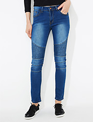 Women's Print Slim Elasticity Jeans / Skinny Pants,Simple