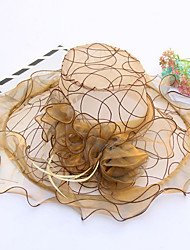 Для женщин Шапки Цветы Панама Широкополая шляпа Шляпа от солнца,Весна/осень Лето Пластиковая пленка Ткань Пэчворк Цветочный Разные цвета