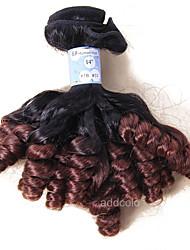 Âmbar Cabelo Peruviano Encaracolado 12 meses 1 Peça tece cabelo