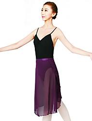 Ballet Skirt Women's Training Chiffon Satin 1 Piece Dropped Skirts