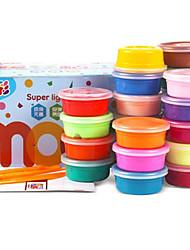 Conjunto de argila super-clara de 24 cores diy magico de ar, secagem, dúctil, inteligente, plastificavel, elástico, grau, segurança,