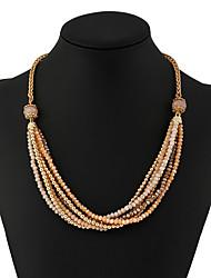 Women's Earrings Set Necklace/Earrings Basic Dangling Style Tassels Punk Crystal EPP Metal Alloy Rhinestone Shiny Metallic Metallic