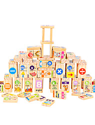 Building Blocks Domino & Tile Games For Gift  Building Blocks Square Wooden 6 Years Old and Above 3-6 years old Toys A pack of 100
