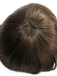 6 дюймов remy человеческих волос человек toupee человеческий волос toupee 8x10 дюймов mono base men hair piece цвет # 4