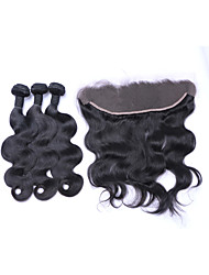 Natural Color Hair Weaves Brazilian Texture Body Wave More Than One Year Four-piece Suit hair weaves