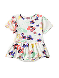 Baby Print Blouse-Acrylic Polyester-Summer-