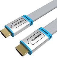 VENTION HDMI 2.0 Cabo, HDMI 2.0 to HDMI 2.0 Cabo Macho-Macho 1080P Cobre banhado a ouro 5,0m (16 pés)