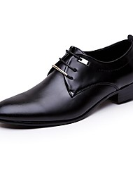Men's Shoes Synthetic Microfiber PU Spring Fall Comfort Oxfords Lace-up For Casual Office & Career Black Brown