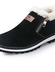 Men's Boots Snow Boots Fall Winter Nubuck leather Leatherette Casual Zipper Flat Heel Black Yellow Flat