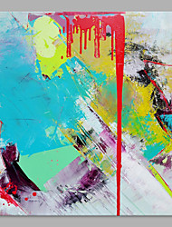 IARTS® Abstract Oil Painting The Modern Colorful Paint Splash Picture with Stretched Frame Painting For Home Decoration Ready To Hang