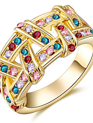 Midi Rings Band Rings Multicolor Women's Fashion Elegant Geometric Mesh Rings For Anniversary Party  Movie Gift Jewelry