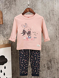 Girls' Geometic Sets,Cotton Fall Clothing Set