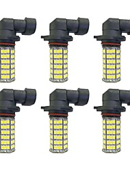 4w 9005 9006 h8 h11 120smd2835 phare / lampe antibrouillard pour voiture blanc dc12v 6pcs