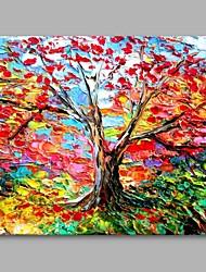 Pintados à mão Botânico Horizontal,Artistíco Moderno/Contemporâneo Escritório/Negócio Ano Novo Natal 1 Painel Tela Pintura a Óleo For