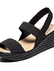 Women's  knitting sandal Comfortable wedge Heel shoes