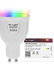 5W Ampoules LED Intelligentes A60(A19) 12 SMD 5730 500 lm RGB + BlancCapteur infrarouge Commandée à Distance Wi-Fi Contrôle de l'APP