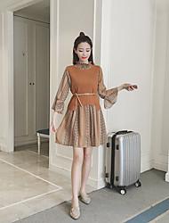 Sweat à capuche Jupe Costumes Femme,Imprimé Décontracté / Quotidien simple Automne Manches longues Mao
