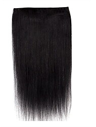 16inch Full Head 5 Clips One piece Clip in 100% Real Human Hair Extensions 80g