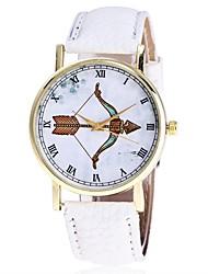 XU Neutral PU Belt Roman Numerals Bbows And Arrows Casual Wrist Watch