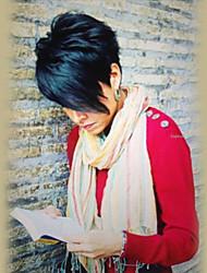 Пушистый спелый черный цвет короткие прямые человеческие волосы парики